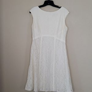 Ivory Lace Dress Size 12 American Living